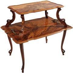 French Art Nouveau Tea Table by, Emile Gallé