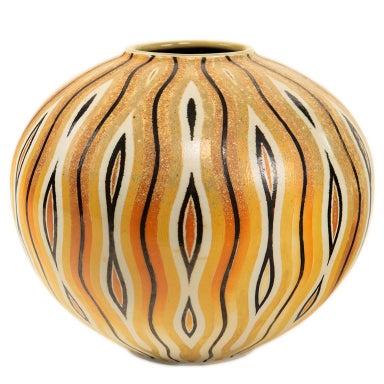 An Art Deco Style Ceramic Decorative Vase by, Douglas Breitbart