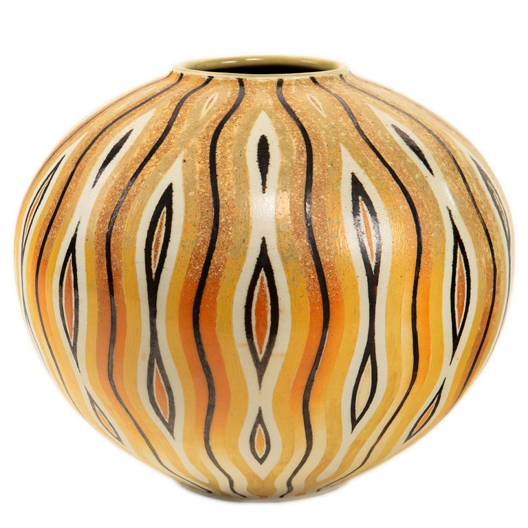An Art Deco Style Ceramic Decorative Vase by, Douglas Breitbart