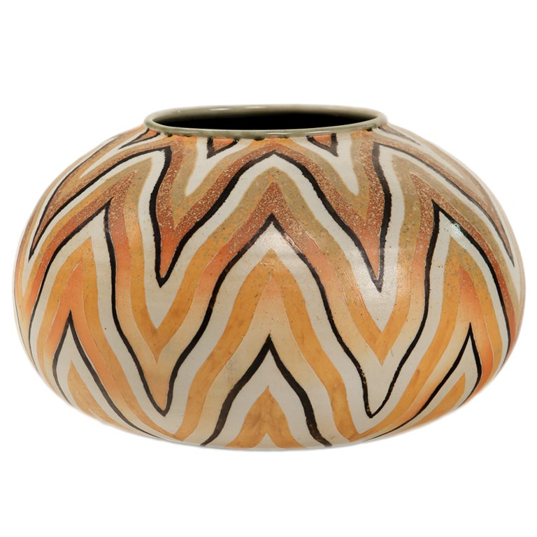 An Art Deco Style Ceramic Decorative Vase by, Douglas Breitbart 1