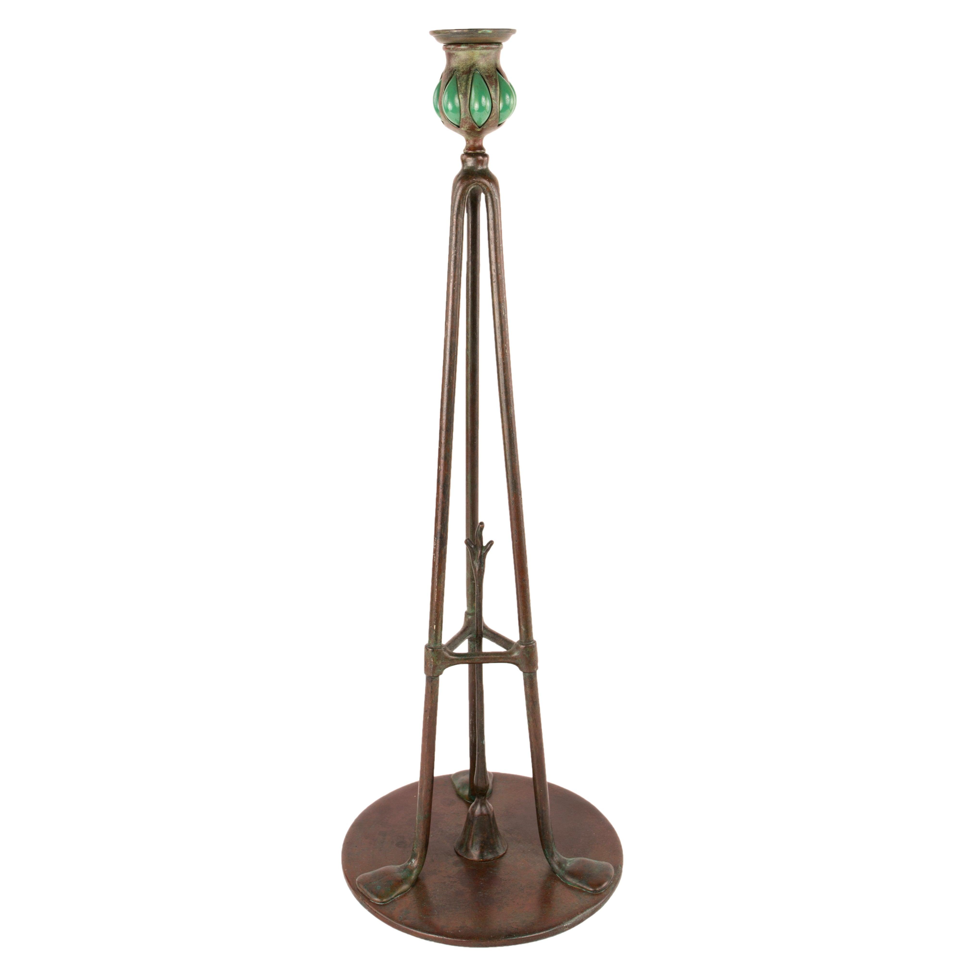Tiffany Studios Bronze Candlestick