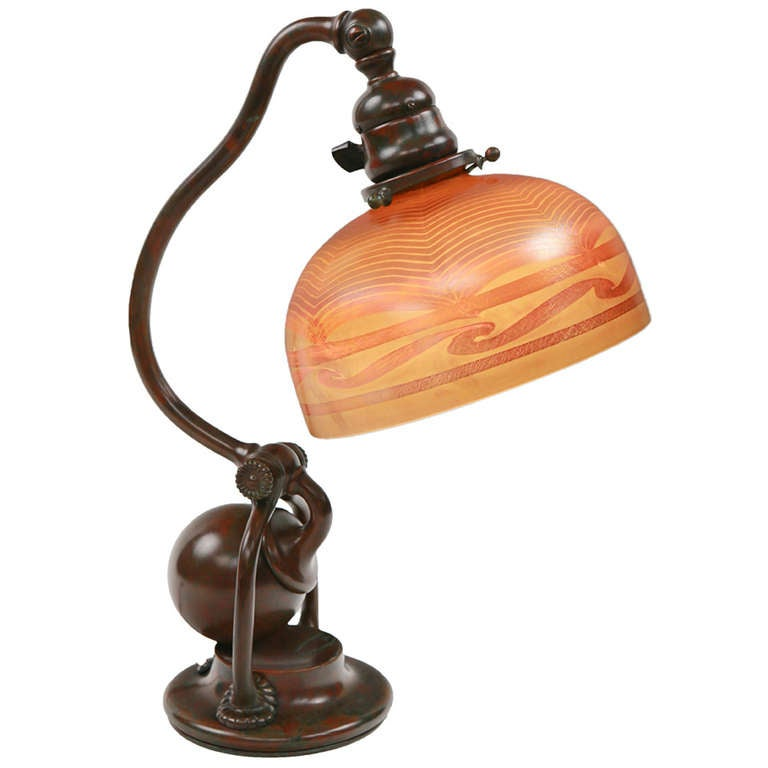 Quot Counter Balance Quot Desk Lamp By Tiffany Studios At 1stdibs