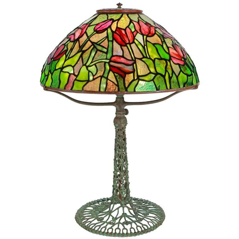 Tiffany Studios Tulip Table Lamp At 1stdibs