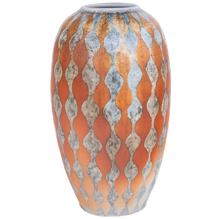 "An Art Deco Style Ceramic Decorative""Ribbon"" Vase by Douglas Breitbart"