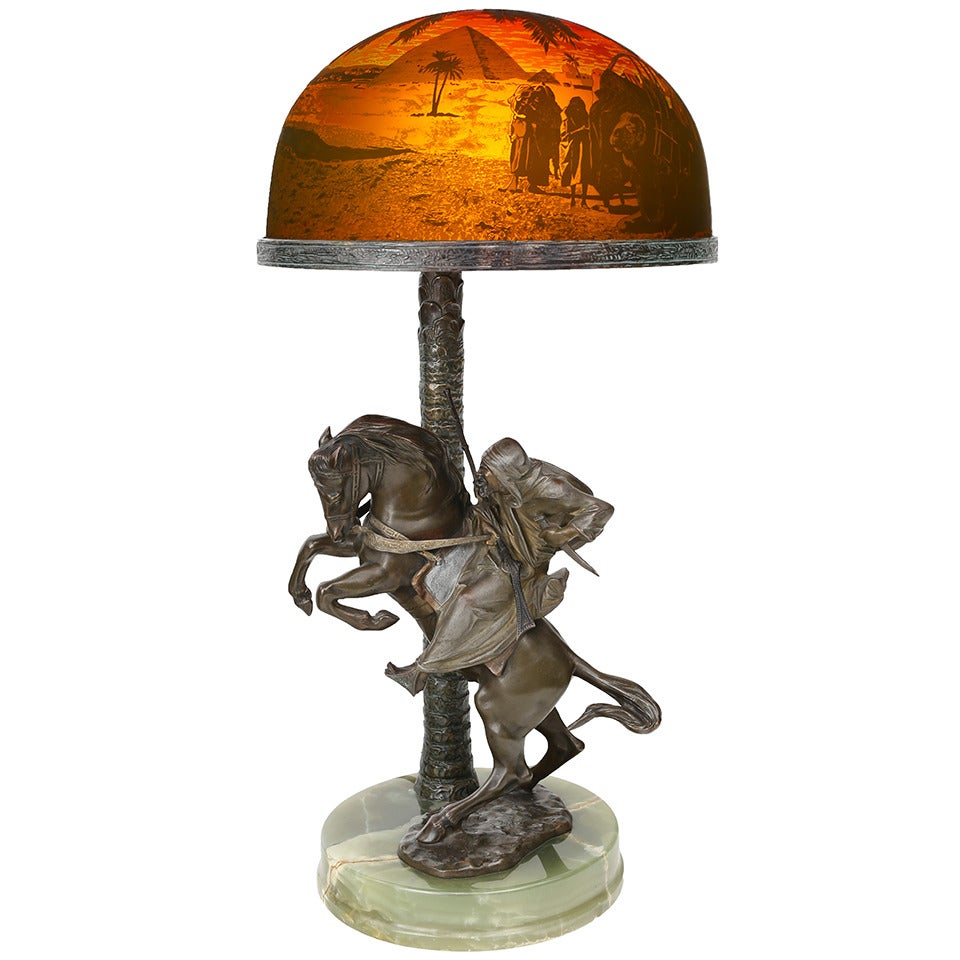 An Art Deco Table Lamp by, Bruno Zach