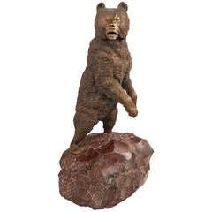 19th Century Russian Bronze Model of a Bear