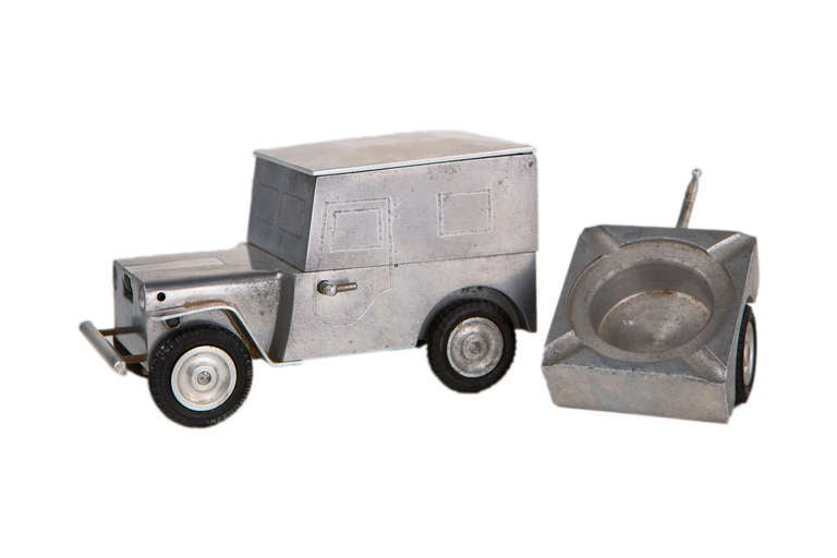 Willys Jeep Table Lighter And Ashtray At 1stdibs