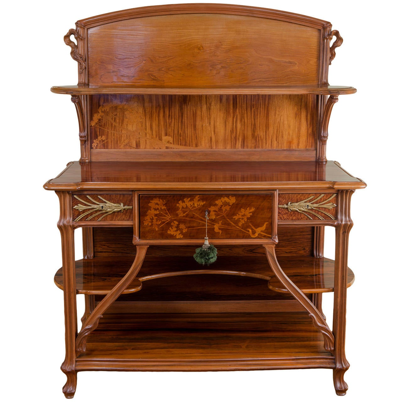 french art nouveau ombelle buffet by emile gall at 1stdibs. Black Bedroom Furniture Sets. Home Design Ideas