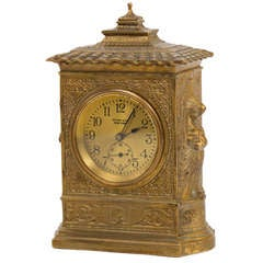 Tiffany Studios Spanish Pattern Mantle Clock