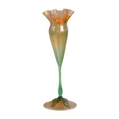 Loetz Flower Form Vase At 1stdibs