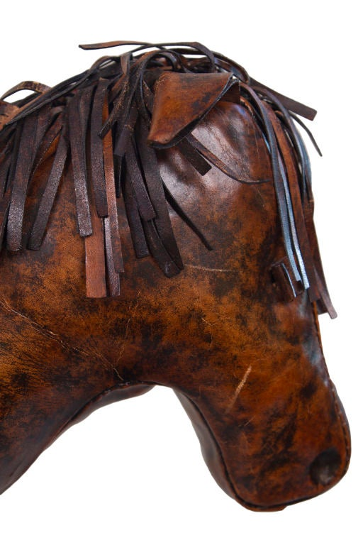 Abercrombie And Fitch Co Leather Horse Ottoman At 1stdibs