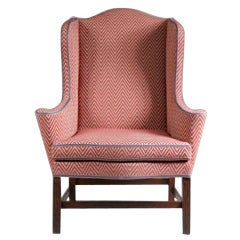 Monumental Chippendale Stop Fluted Serpentine Seat Easy Chair