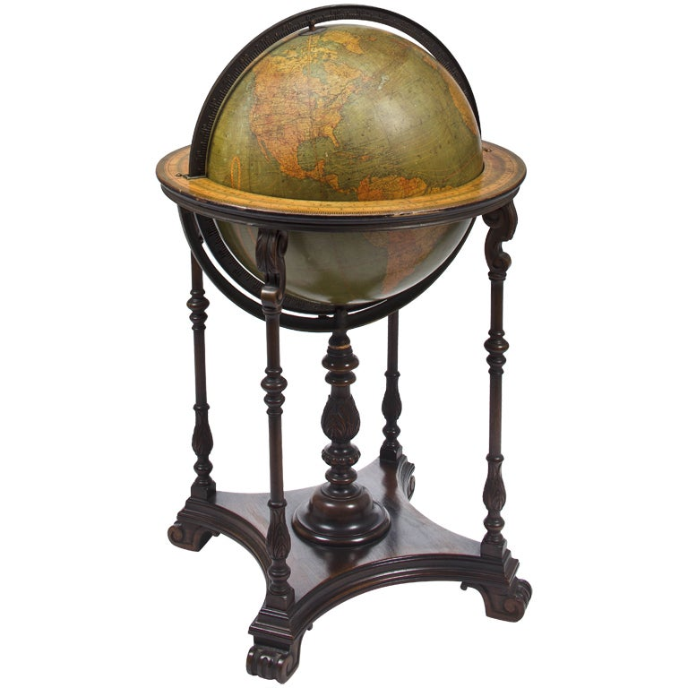 Terrestrial Library Floor Globe At 1stdibs