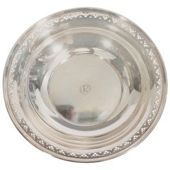 Antique Tiffany & Co. Sterling Silver Pierced Edge Bowl