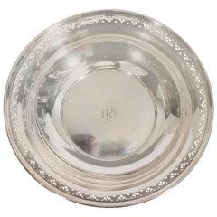Antique Tiffany & Co. Sterling Silver Pierced Edge Bowl