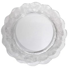 Lalique French Crystal Honfleur Bowl and Dish