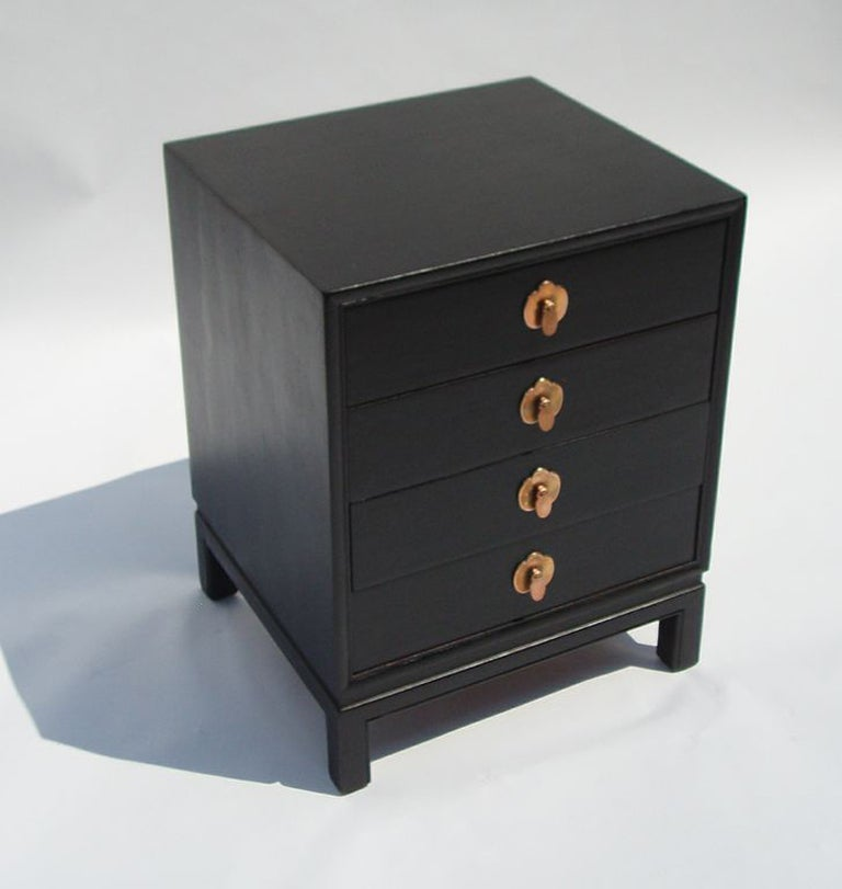 Mid century ebonized wood chest by landstrom furniture at