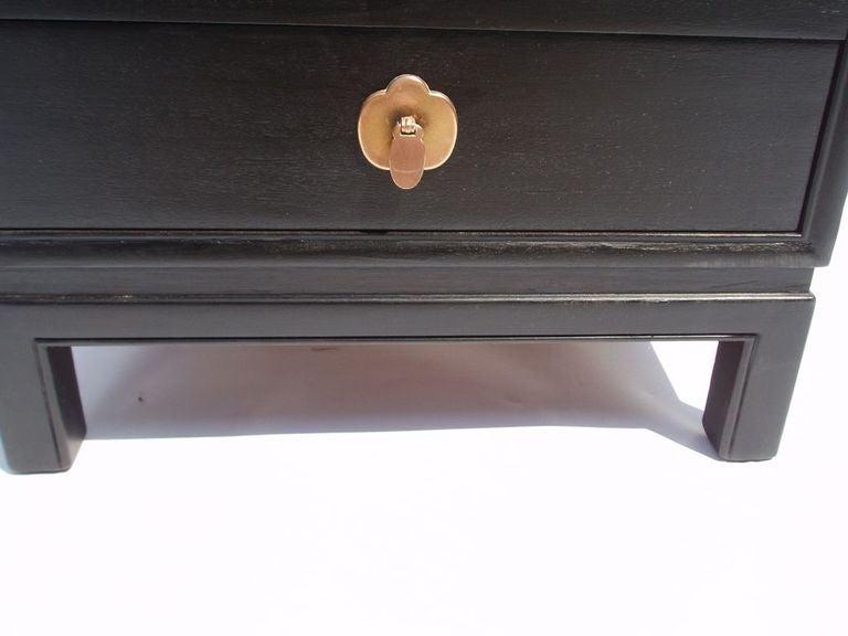Ebonized Wood Furniture ~ Mid century ebonized wood chest by landstrom furniture at