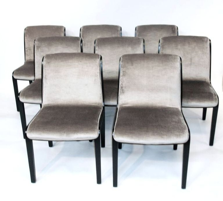 Set Of 8 Mid Century Dining Chairs By Bill Stephens For Knoll 2