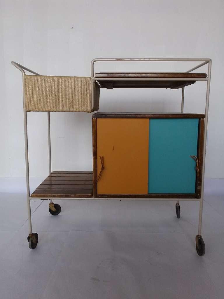 a mid century arthur umanoff for raymor bar cart at stdibs - a mid century arthur umanoff for raymor bar cart