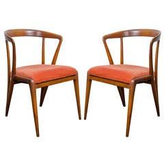 A Midcentury Pair of Bertha Schaefor Chairs