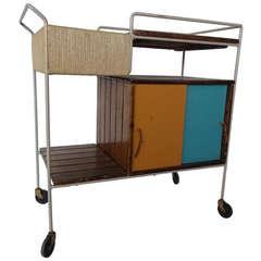 A Mid Century Arthur Umanoff  for Raymor Bar Cart