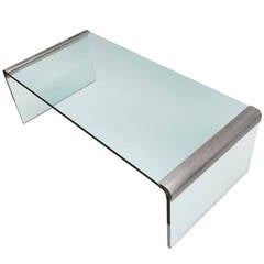 "Midcentury ""Waterfall"" Coffee Table by Leon Rosen for Pace"