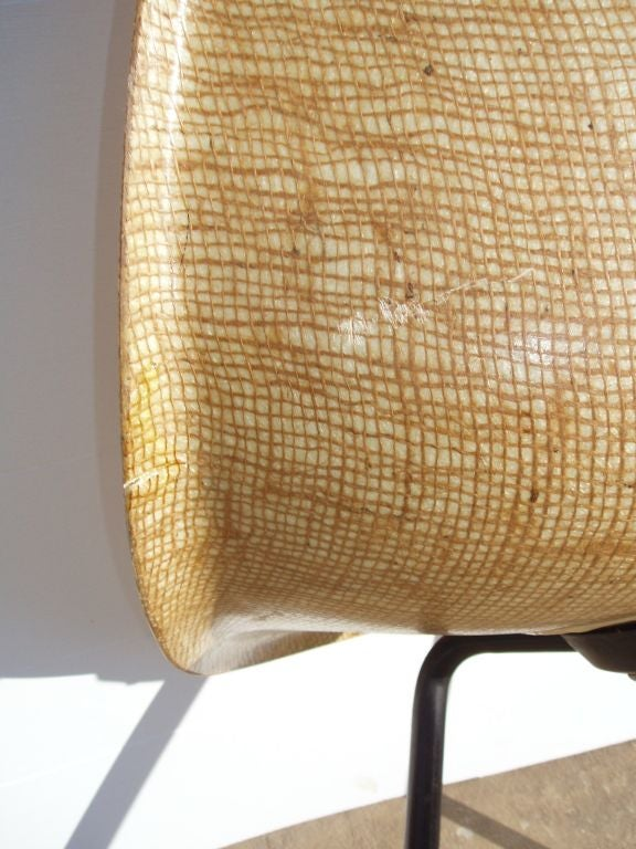 Mid Century Chair Composed Of Natural Fibers At 1stdibs