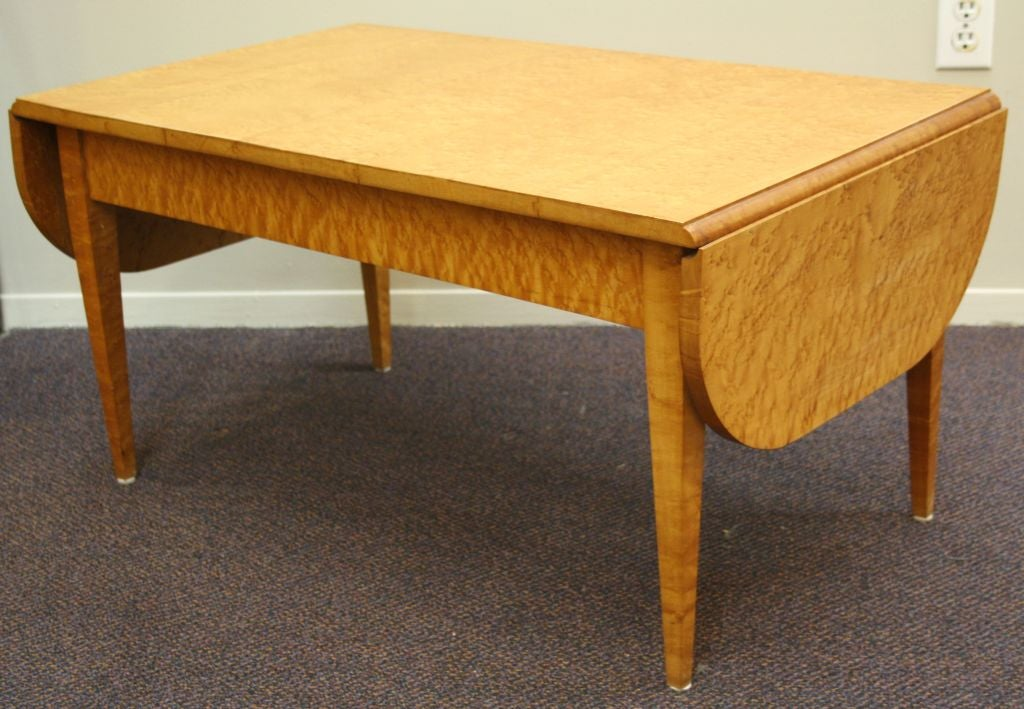 Mid Century Burled Wood Drop Leaf Coffee Table At 1stdibs
