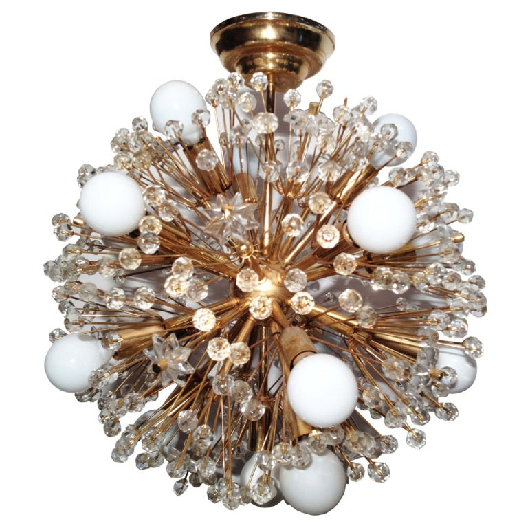 mid century brass starburst chandelier by stejnar at 1stdibs. Black Bedroom Furniture Sets. Home Design Ideas