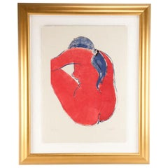 "Lithograph Entitled ""Red Rose"" by Stan Mark"