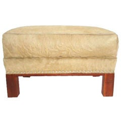 Art Deco Ottoman in Cow Hide - Once Owned by Martha Graham