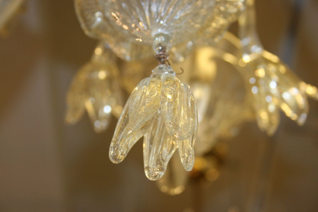 Murano Hand Blown Glass Chandelier For Sale 3