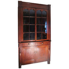Early 19th Century Cherry Corner Cupboard