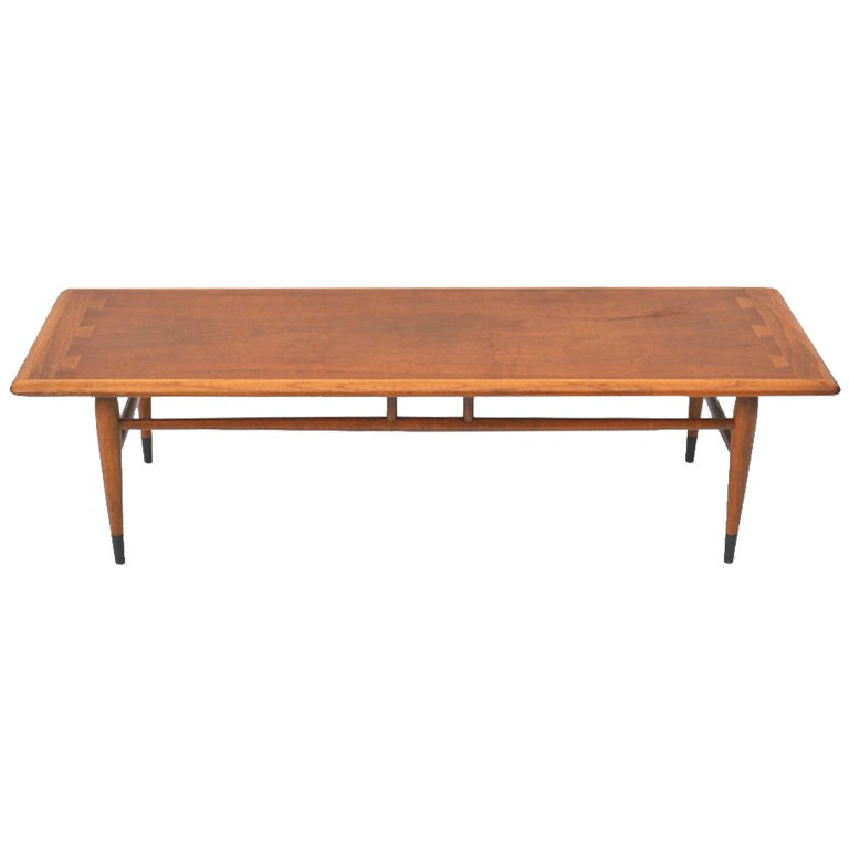 Mid Century Walnut Coffee Or Cocktail Table By Lane At 1stdibs