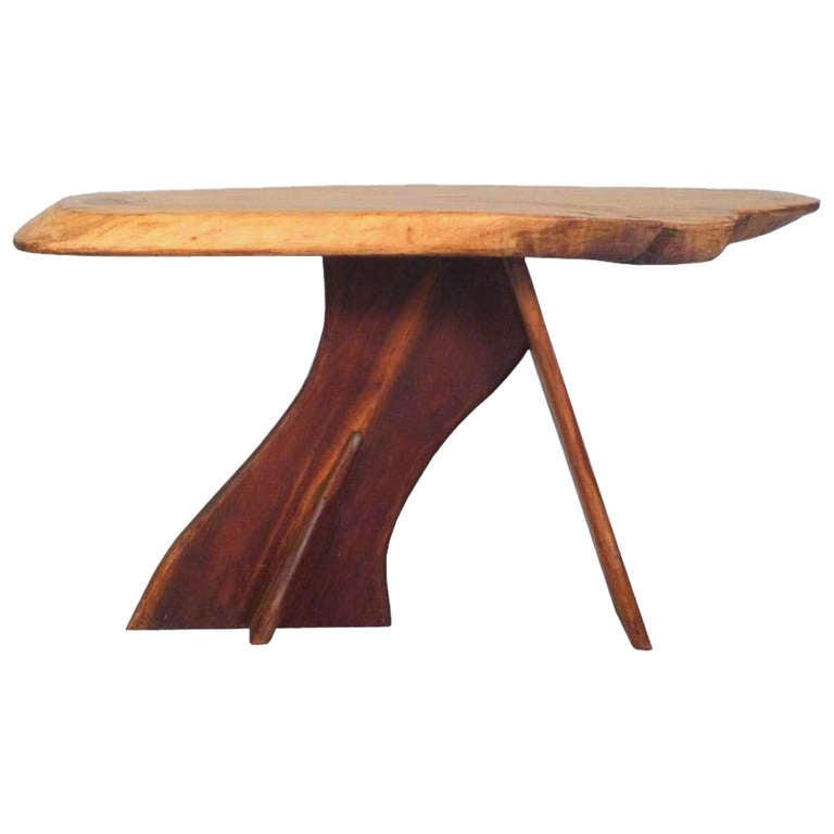 A Mid Century Organic Coffee Table In The Style Of George Nakashima