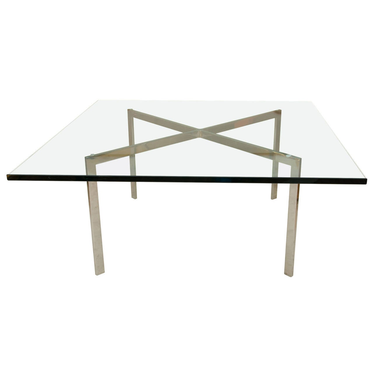 Midcentury Chrome X Base Coffee Or Cocktail Table At 1stdibs
