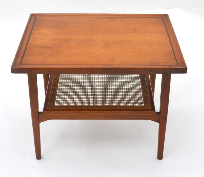 Single Mid-Century Walnut Side Table by Drexel 2