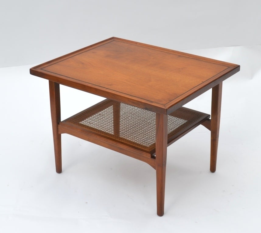 Single Mid-Century Walnut Side Table by Drexel 3