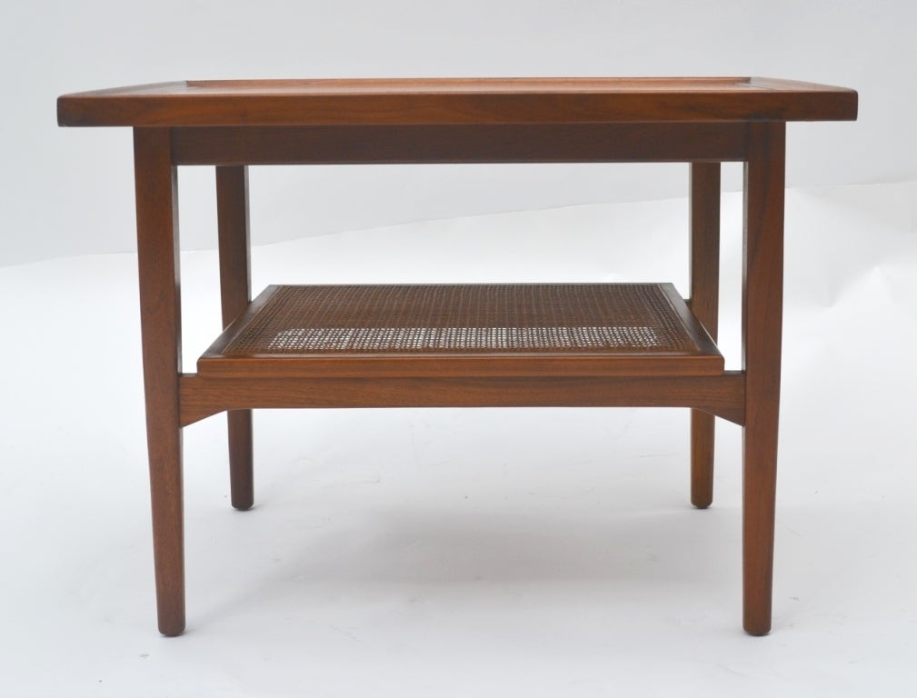 Single Mid-Century Walnut Side Table by Drexel image 4