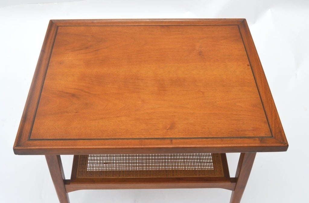 Single Mid-Century Walnut Side Table by Drexel 5