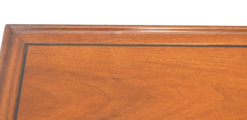 Single Mid-Century Walnut Side Table by Drexel image 7