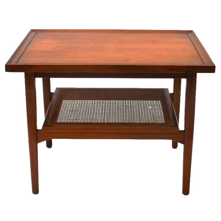 Single Mid-Century Walnut Side Table by Drexel 1