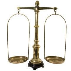 19th Century English Brass Scale