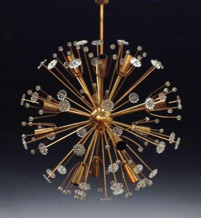 mid century emil stejnar starburst chandelier for sale. Black Bedroom Furniture Sets. Home Design Ideas