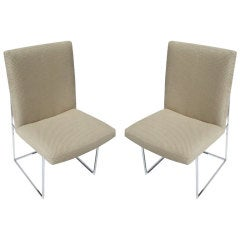 Mid-Century Side Chairs by Milo Baughman for Thayer Coggin
