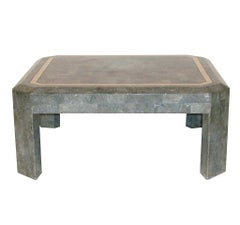 Mid-Century Tessellated Grey Stone Cocktail Table