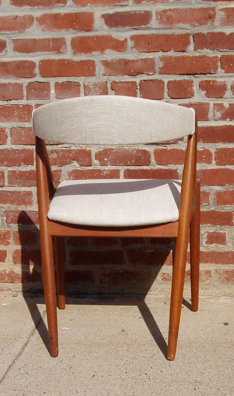 Set of 6 mid century dining chairs by kai kristiansen at 1stdibs - Kai kristiansen chairs ...