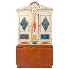 Swedish Gustavian Clock Cupboard
