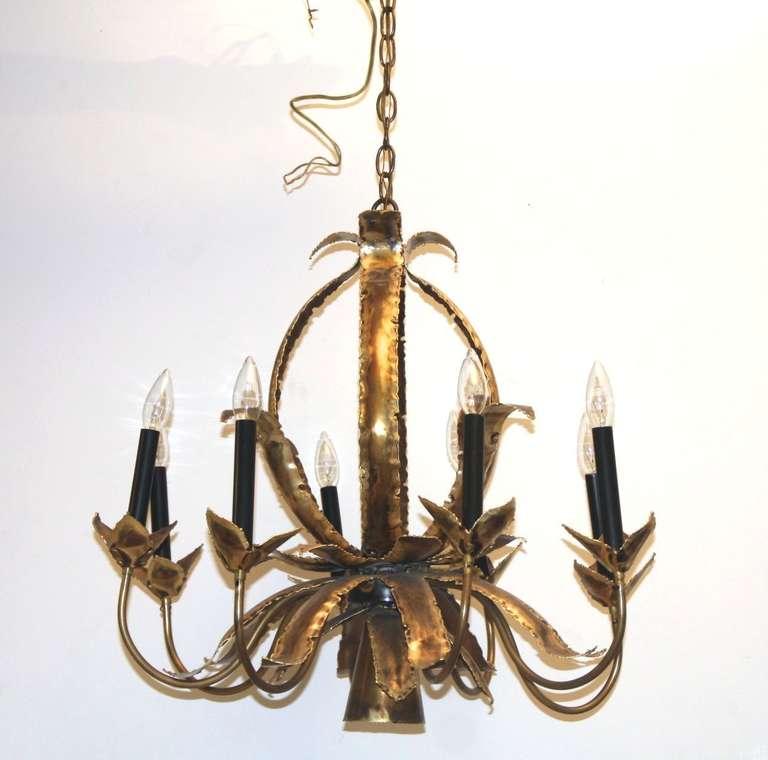 chandelier inch vintage organic brass chandeliers light artcraft product ceiling